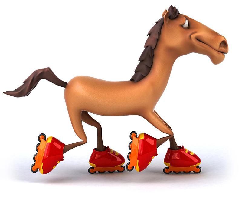 马,背景分离,图像,种马,动物,无人,三维图形,水平画幅,绘画插图,卡通