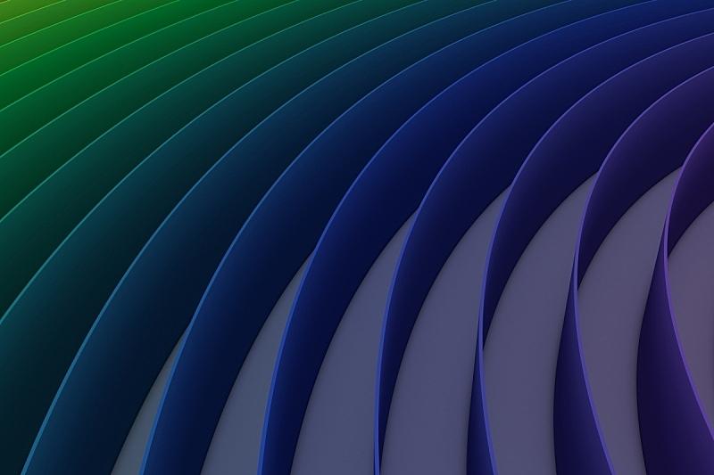 成一排,色彩鲜艳,绘画插图,抽象,三维图形,背景,青绿色,山,式样,水平画幅