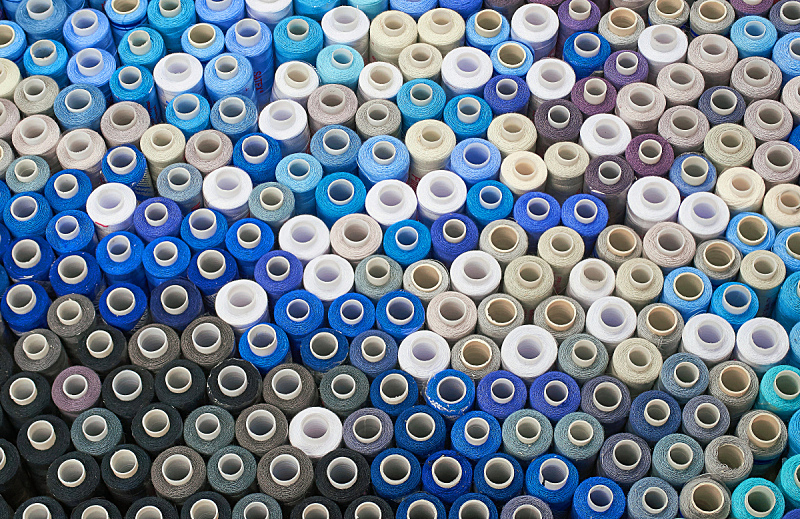 线轴,线,水平画幅,纺织品,纤维,组物体,线绳,棉,裁缝,工业