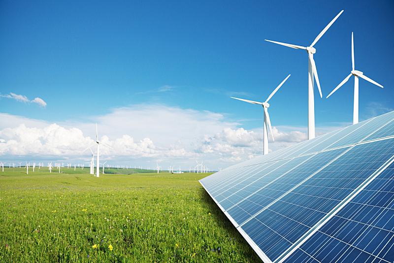 风轮机,太阳能电池板,发电站,太阳能发电站,太阳能,天空,未来,多代家庭,风,气候