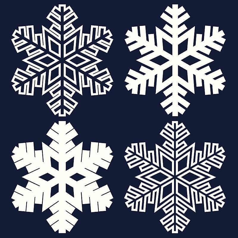 雪花,华丽的,抽象,自然,式样,形状,雪,无人,蓝色