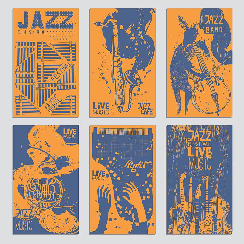 绘画插图,乐器,纹理,动物手,与众不同,墨水,爵士音乐节,艺术,爵士乐