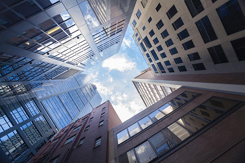 城市,墨尔本,摩天大楼,办公楼外观,低视角,都市风景,澳大利亚,高大的,建筑外部,建筑