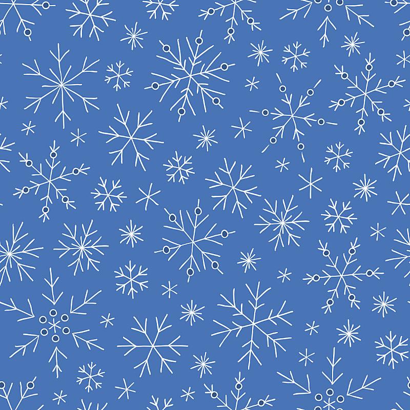 雪花,乱画,式样,贺卡,新的,形状,雪,绘画插图,符号