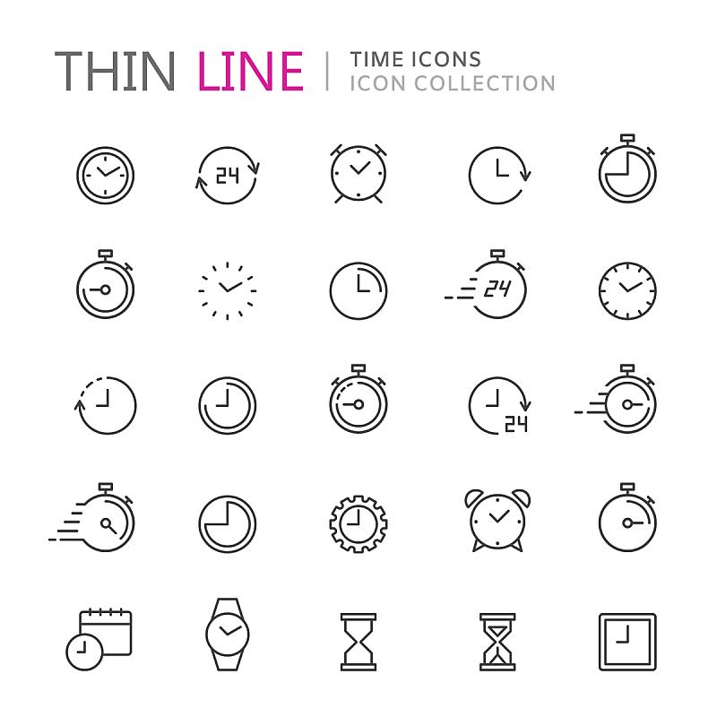 秒表,钟,细的,计算机图标,线条,沙子,无人,绘画插图,符号,组物体