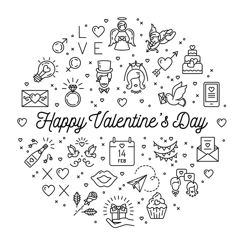 细的,圆形,计算机图标,符号,情人节卡,婚礼,高雅,线条,贺卡,情人节