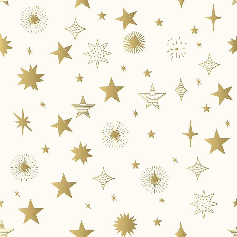 星星,黄金,手,矢量,式样,星形,铝箔,金色,可爱的,华丽的