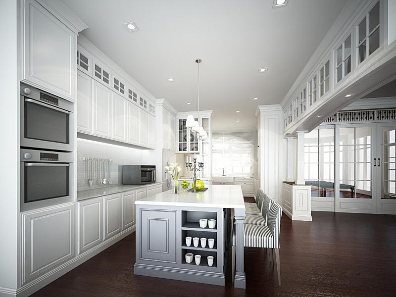 3d render of interior kitchen
