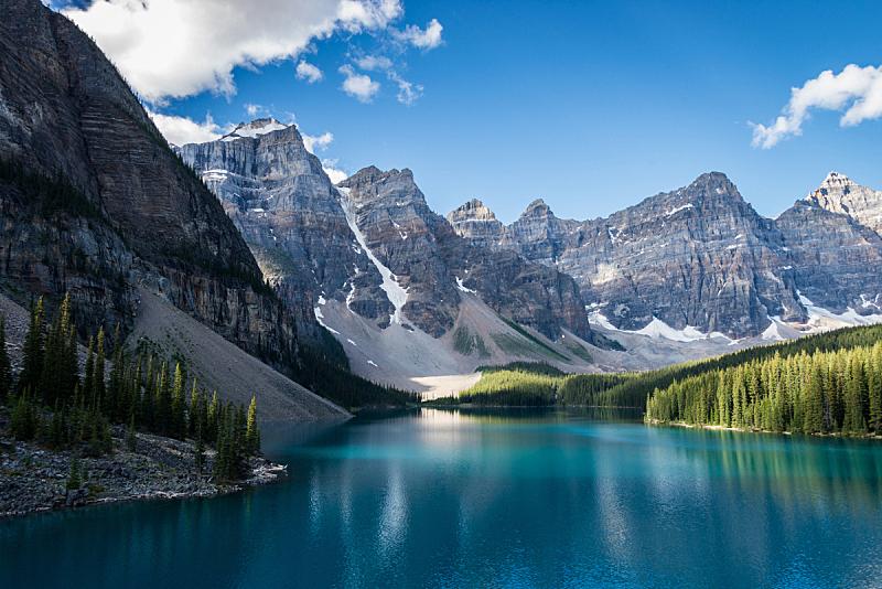 梦莲湖,水,天空,水平画幅,雪,阿尔伯塔省,无人,户外,湖,非凡的