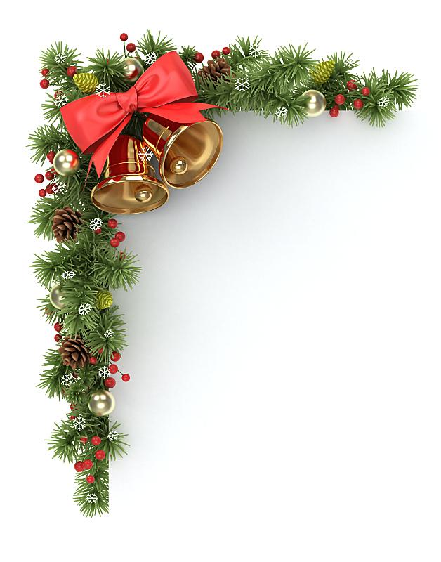 圣诞树,角度,垂直画幅,边框,无人,蝴蝶结,绘画插图,花卉花环,针叶树
