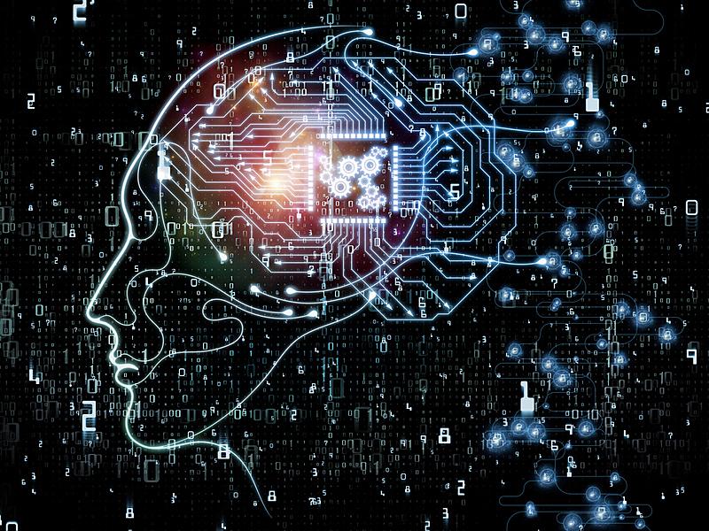 抽象,机敏,制造机器,数,人的头部,身份,设计元素,数学符号,人脑