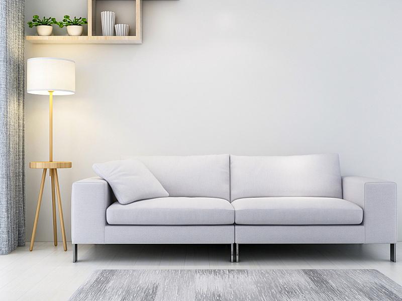 沙发,起居室,高雅,柜子,绿色,电子收费系统,植物群,落地灯,下一个,照明设备