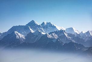 山,珠穆朗玛峰,风景,日光,恐克,努子峰,洛子峰,全景,山脉,珠峰大本营