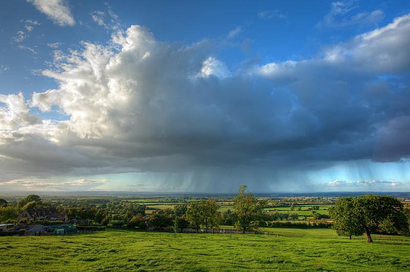 格洛斯特郡,雨,水循环,科茨沃尔德 ,云景,云,水下落,天气,英格兰