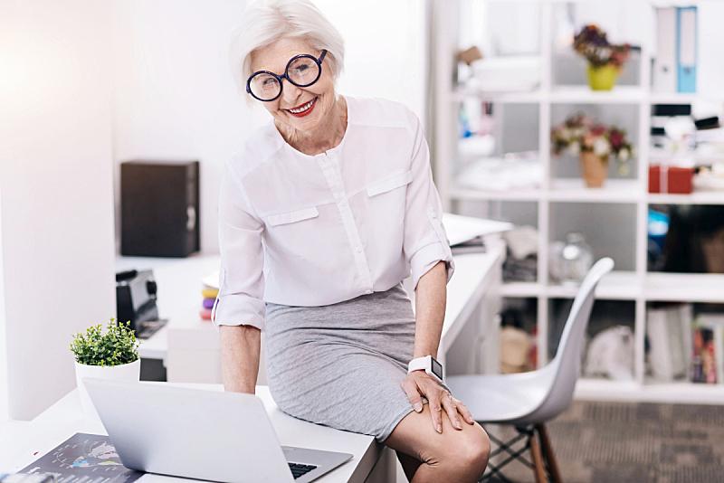 女人,办公室,商务,设备用品,乐趣,愉快的,婴儿潮,专横,中老年女人,高雅