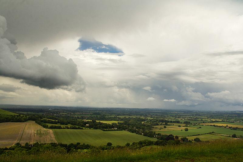 切尔吞山,白金汉郡,风景,云,在上面,水平画幅,山,无人,英格兰,夏天