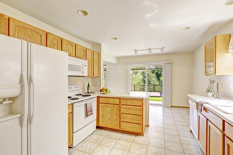 住宅房间,无人,厨房,露天平台,房屋,白色,窗户,水平画幅,建筑,豪宅