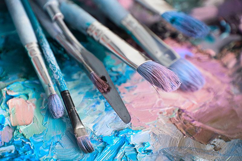 艺术家,调色板,大特写,与众不同,多样,科罗拉多州,沙土障碍,纹理效果