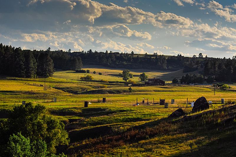 科罗拉多州,山谷,天空,水平画幅,山,无人,夏天,户外,草,农作物