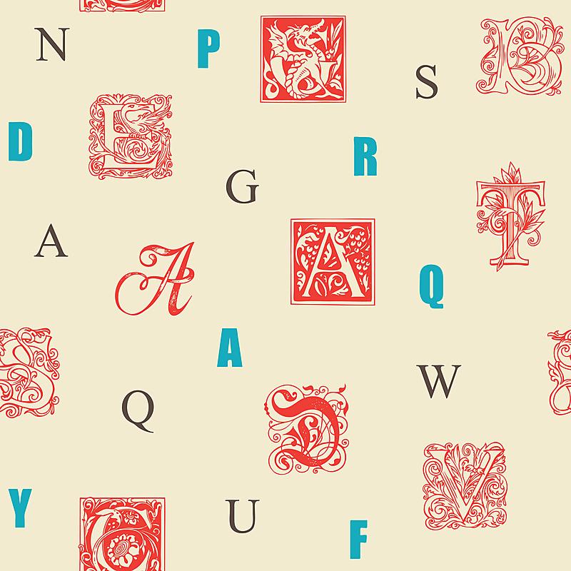 大写字母,四方连续纹样,文字,纹理效果,英语,字母,纺织品,复古风格,巴洛克风格,现代