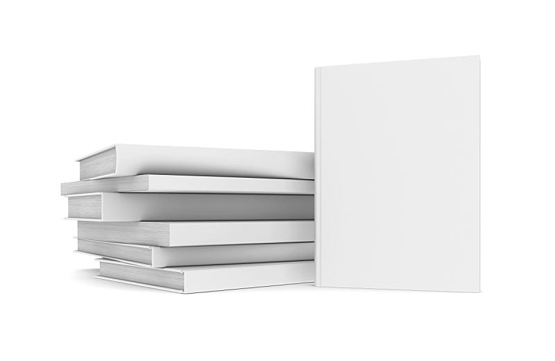 白色,书,空白的,留白,水平画幅,无人,笔记本,小册子,白色背景,组物体