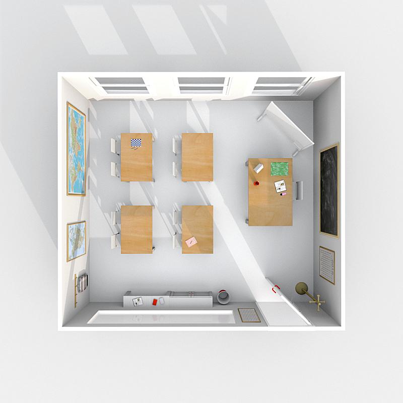 三维图形,教室,室内,都市风景,计划书,座位,形状,墙,无人,椅子