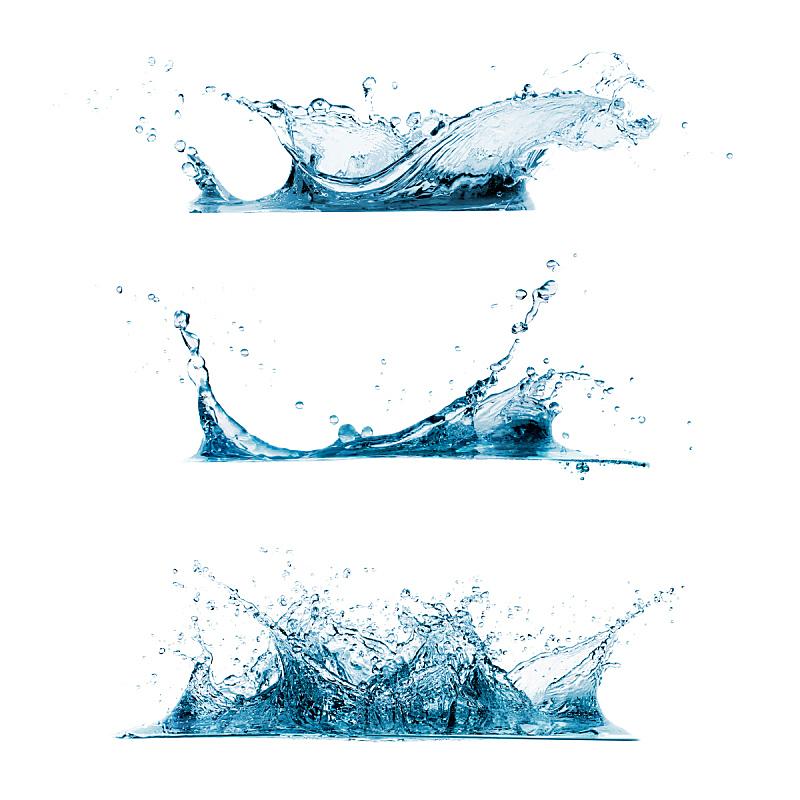 饮用水,水,水滴,白色背景,波浪,波纹,透明,漩涡形,无人,绘画插图
