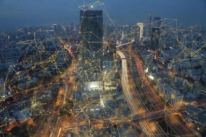城市,技术,计算机,网线插头,现代,云计算,网络服务器,金融技术,大数据,云