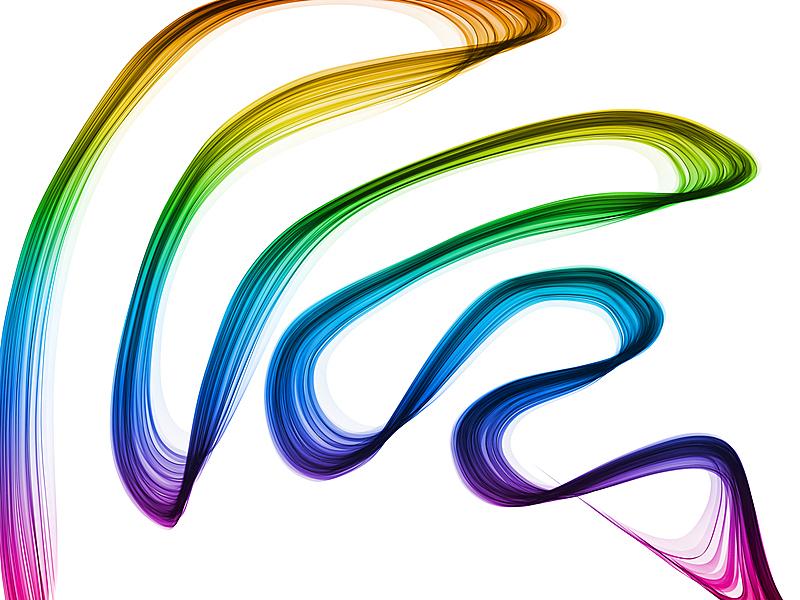 烟,色彩鲜艳,抽象,白色背景,未来,水平画幅,纹理效果,形状,无人,绘画插图