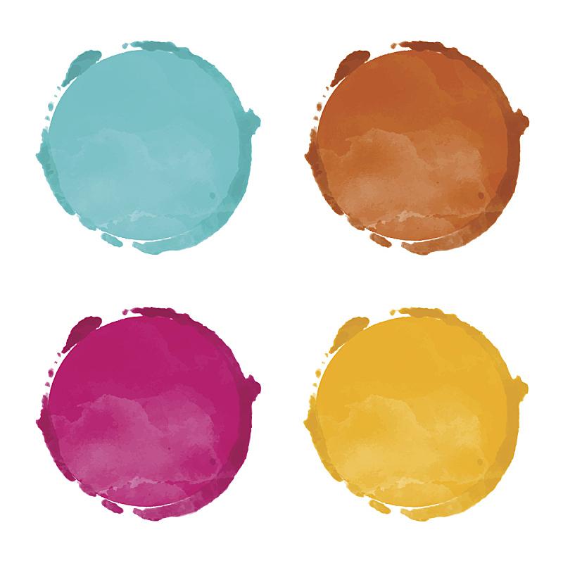圆形,涂料,彩虹,玷污的,舞台,水彩画,分离着色,水彩颜料,标签,美术绘画
