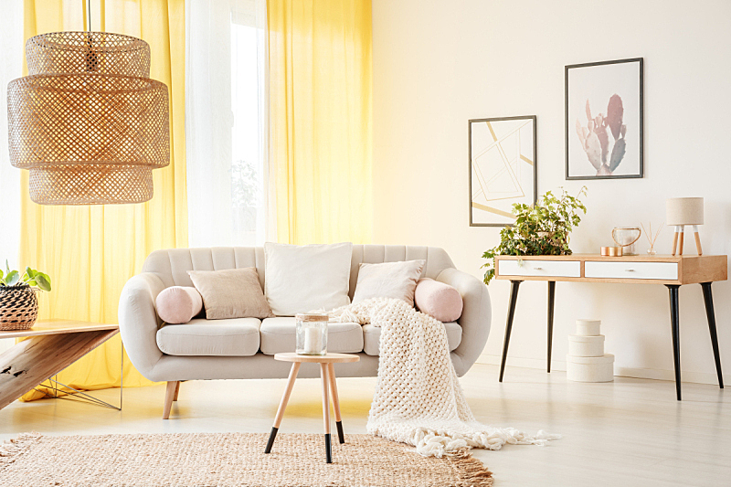 起居室,吉普赛人,热,水平画幅,无人,柳条,盒子,灯,家具,明亮