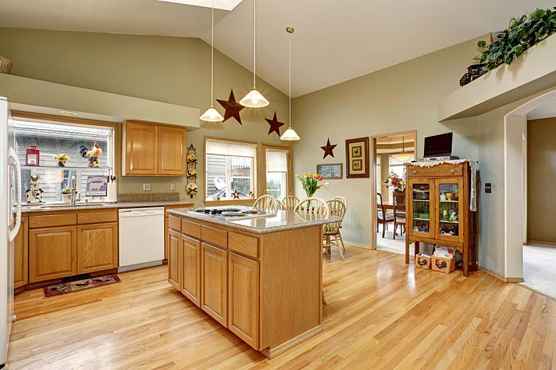 厨房,传统,居住区,住宅房间,水平画幅,建筑,无人,豪宅,天花板,家具