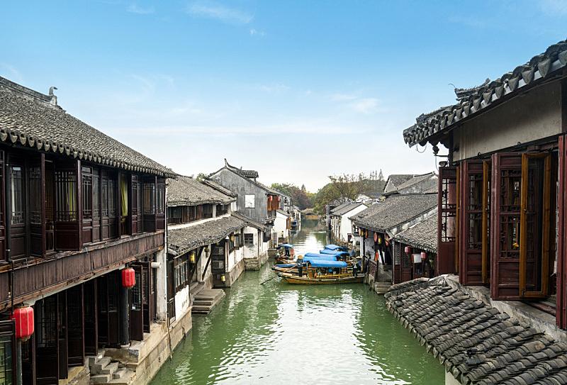 远古的,风景,苏州,周庄,乌镇,古董,园林,河流,运河,户外