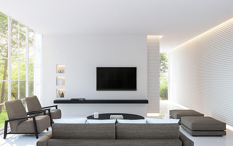 起居室,极简构图,白色,成一排,热,照明设备,式样,图像,围墙,隐藏