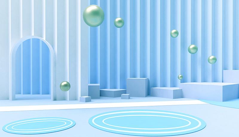 门,背景,三维图形,幸福,极简构图,白色,概念,墙,住宅房间,蓝色