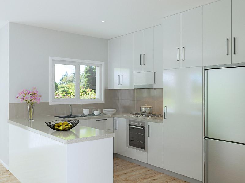 厨房,室内,白色,用具,水平画幅,无人,木材,石材,澳大利亚,摄影