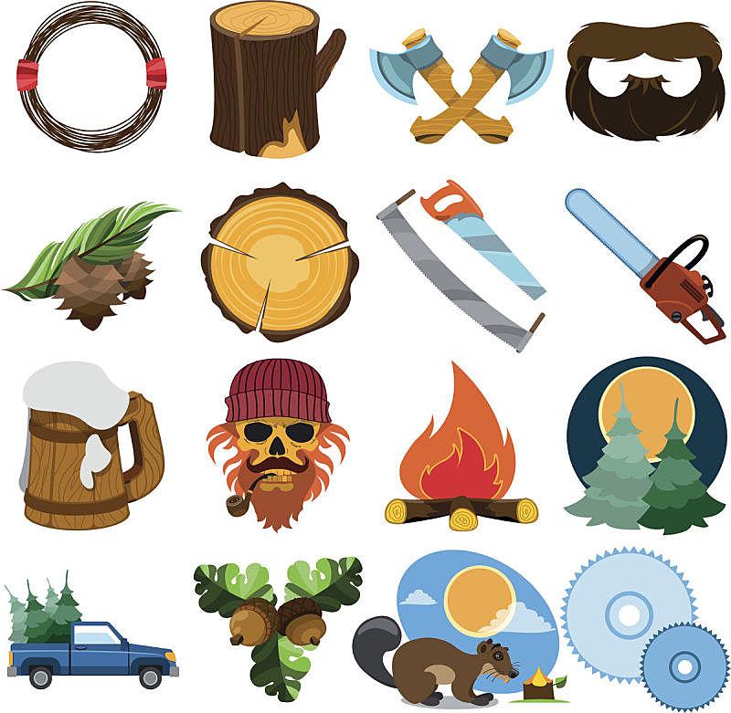 品牌名称,伐木搬运业,短柄斧,海狸,橡树果,柴火,环境,波尔多,动物,马克杯