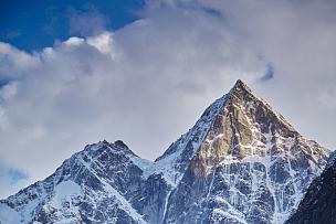 雪,山,雪山,山顶,天空,水平画幅,无人,户外,植物,四川省