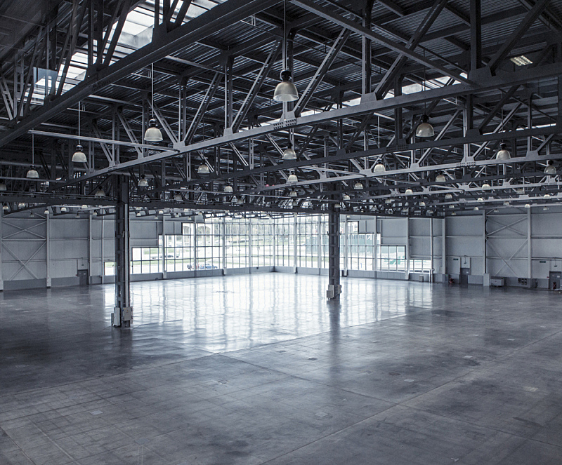 仓库,室内,空的,飞机库,混凝土,太空,水平画幅,建筑,无人,巨大的