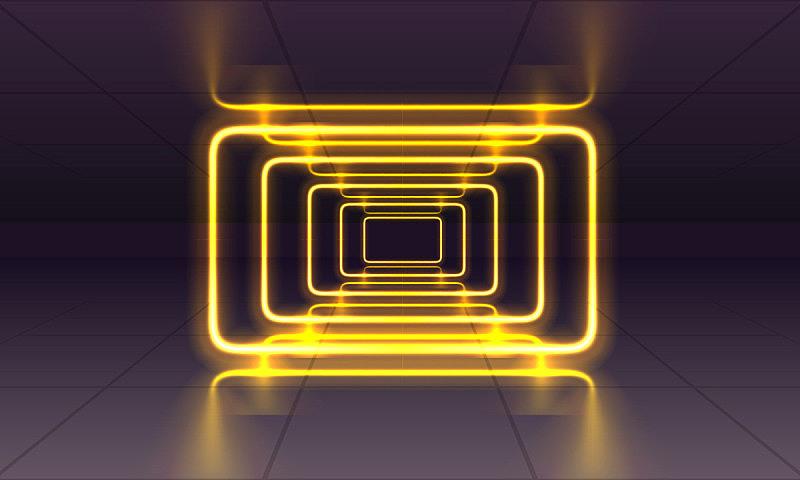 霓虹灯,都市风光,激光,暗色,照明设备,边框,现代,隧道,走廊,背景