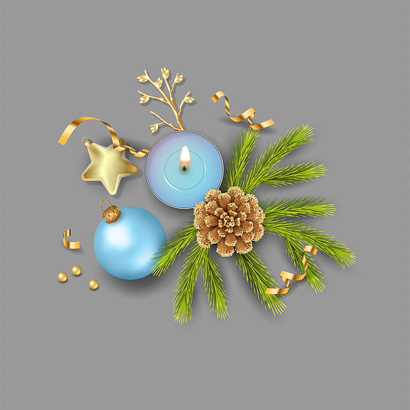 装饰品,华丽的,事件,贺卡,球,新年前夕,装饰物,杉树,节日