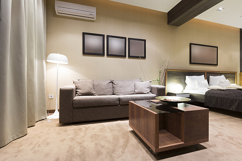 公寓,室内,住宅房间,桌子,水平画幅,无人,灯,家具,现代,沙发