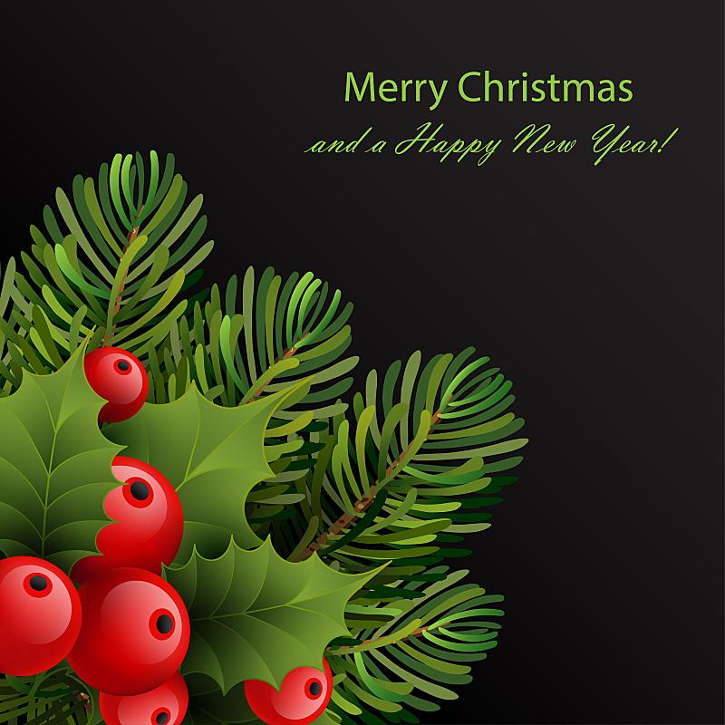 模板,圣诞卡,贺卡,边框,无人,历日,绘画插图,传统,符号