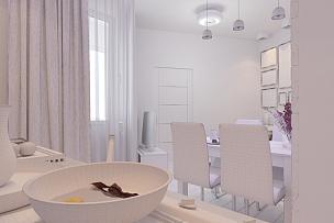起居室,厨房,室内设计师,三维图形,新古典派,水平画幅,无人,家具,现代,沙发