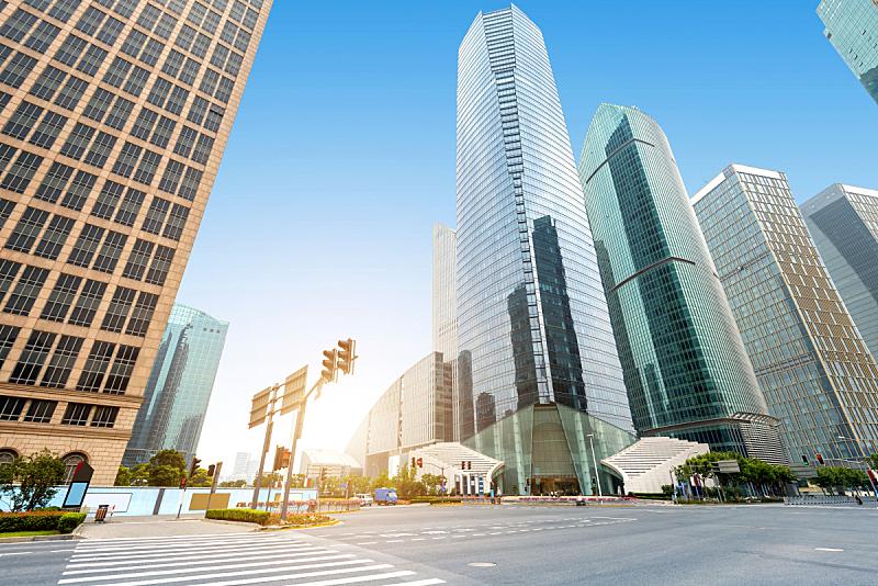 上海,金融,摩天大楼,陆家嘴,中心,天空,未来,新的,外立面,水平画幅