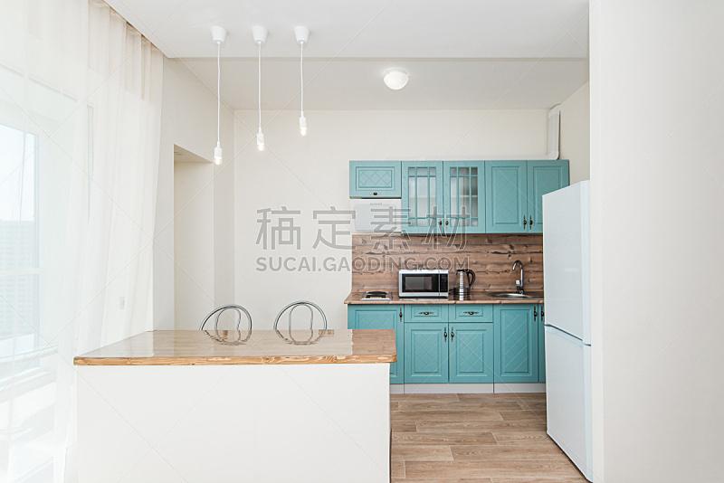 厨房,住宅房间,照明设备,冰箱,华贵,舒服,炊具,沙发,水槽,现代