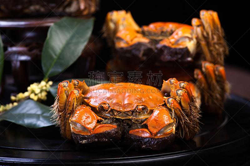 螃蟹,中国,大闸蟹,多毛的,动物毛发,连指手套,水平画幅,户外,篮子,湖
