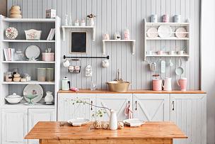 厨房,室内,房屋,透过窗户往外看,自然美,柜子,架子,豪宅,围墙