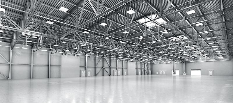 仓库,绘画插图,空的,三维图形,飞机库,器材箱,衣架,工业,钢铁,工厂