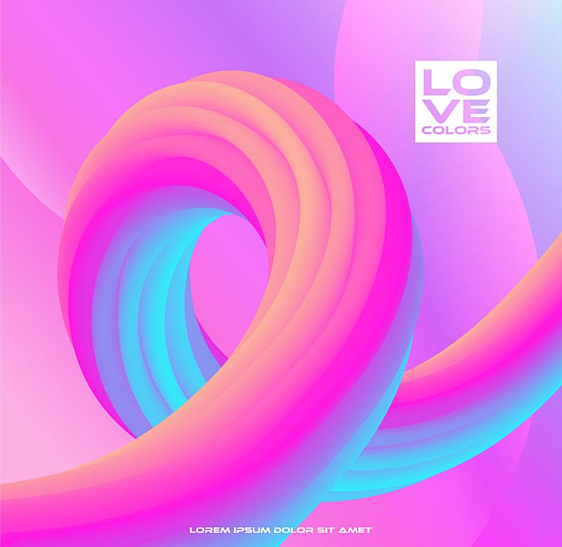 现代,色彩鲜艳,三维图形,形状,几何形状,背景,抽象,线条,流动,聚会